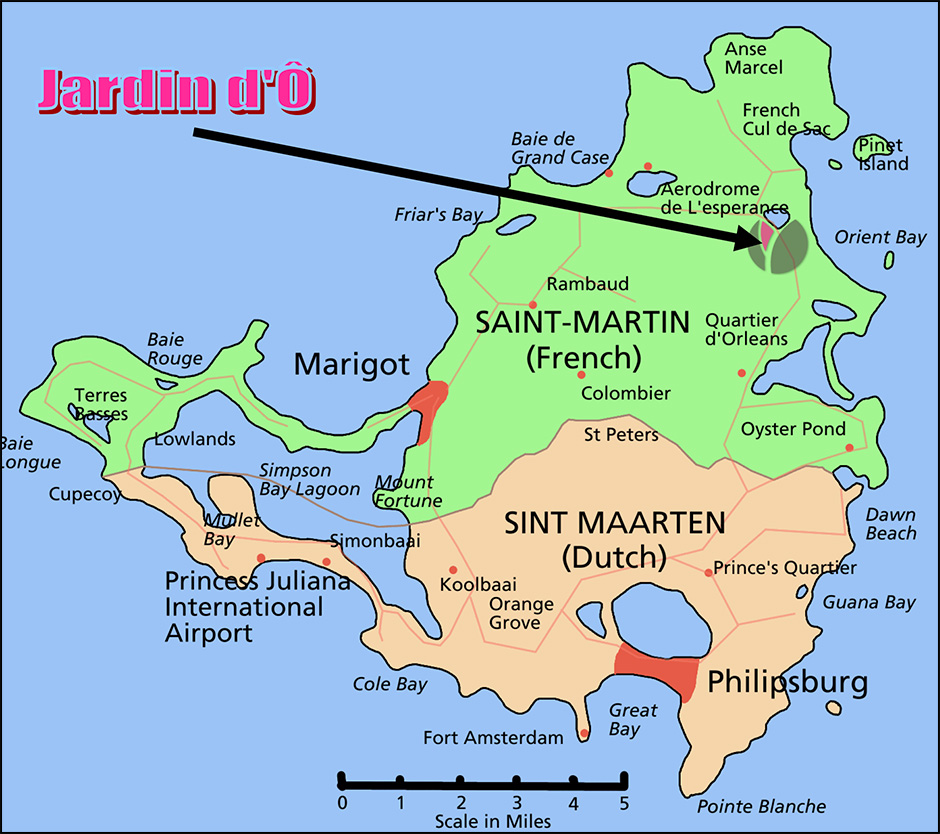 map of carbbean island st martin jardin d'o nude resorts